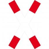 Andreaskreuz Aufkleber 30cm