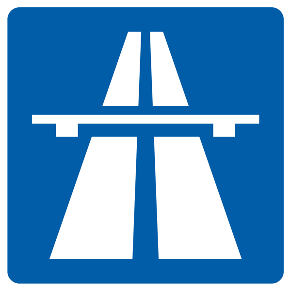 Autobahn Aufkleber 30cm