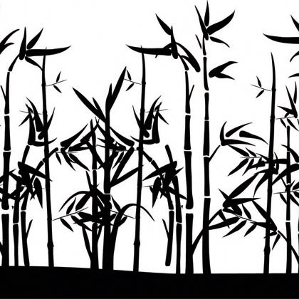 Bambus-Landschaft (Silhouette)