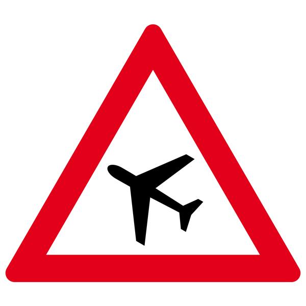 Achtung Flugbetrieb 30cm