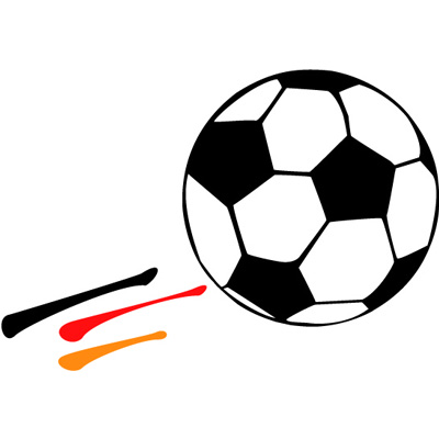 Fussball, schwarz-rot-gold