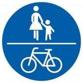 Gemeinsamer Geh- und Radweg Aufkleber 30cm