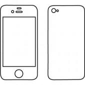 Iphone 4/4Gs Dekocover beide Seiten ohne Apfel