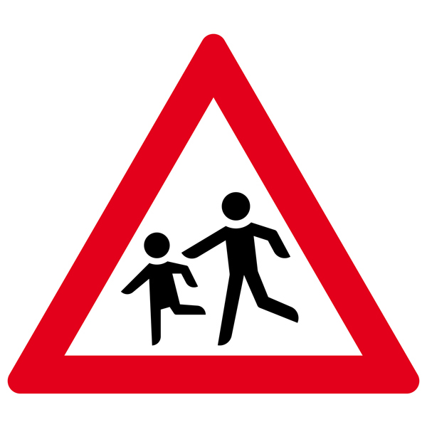 Achtung Kinder Aufkleber 30cm