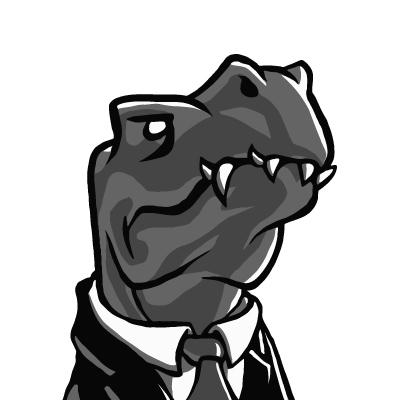 Management-Dino (dreifarbig)