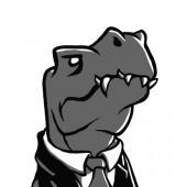 Management-Dino (zweifarbig)