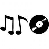 Noten und Schallplatte