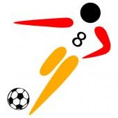 Fussballer schwarz-rot-gold