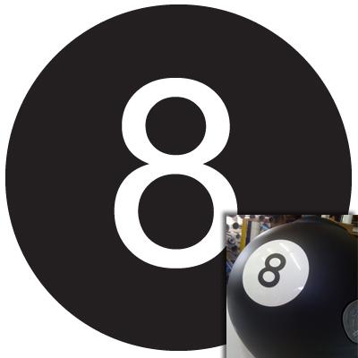 8-Ball aus Spezial-Folie