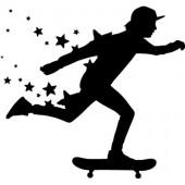 Skater mit Sternen