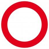 Verbot für Fahrzeuge aller Art Aufkleber 30cm