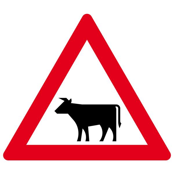 Achtung Viehbetrieb Aufkleber 30cm