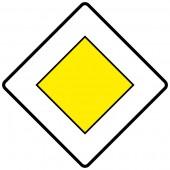 Vorfahrtsstraße Aufkleber 30cm