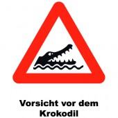 Warnung Krokodil