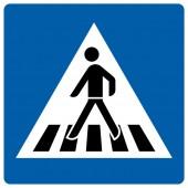 Fußgängerüberweg Aufkleber 30cm