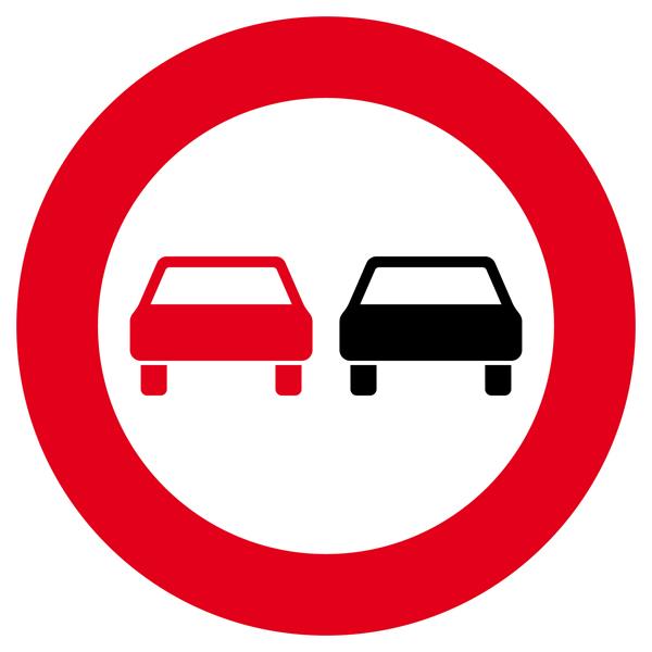 Überholverbot für Kraftfahrzeuge aller Art Aufkleber 30cm