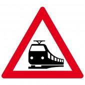 Unbeschränkter Bahnübergang Aufkleber 30cm