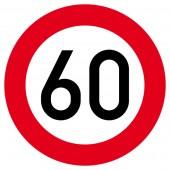 Zulässige Höchstgeschwindigkeit Aufkleber 30cm