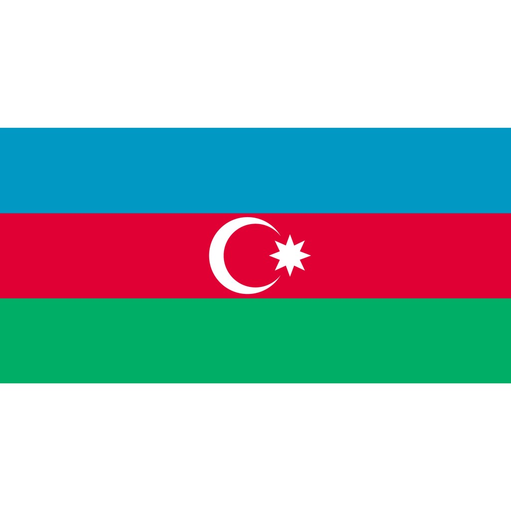 Nationalflagge Aserbaidschan