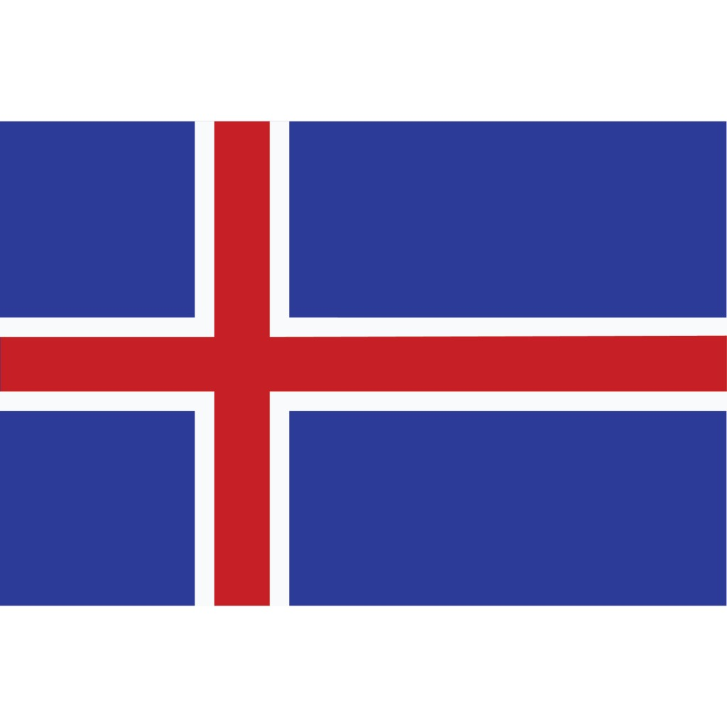 Nationalflagge Island