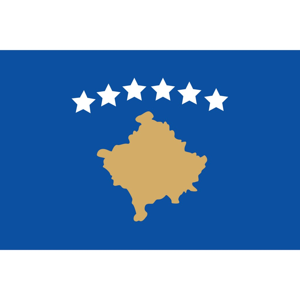 Nationalflagge Kosovo
