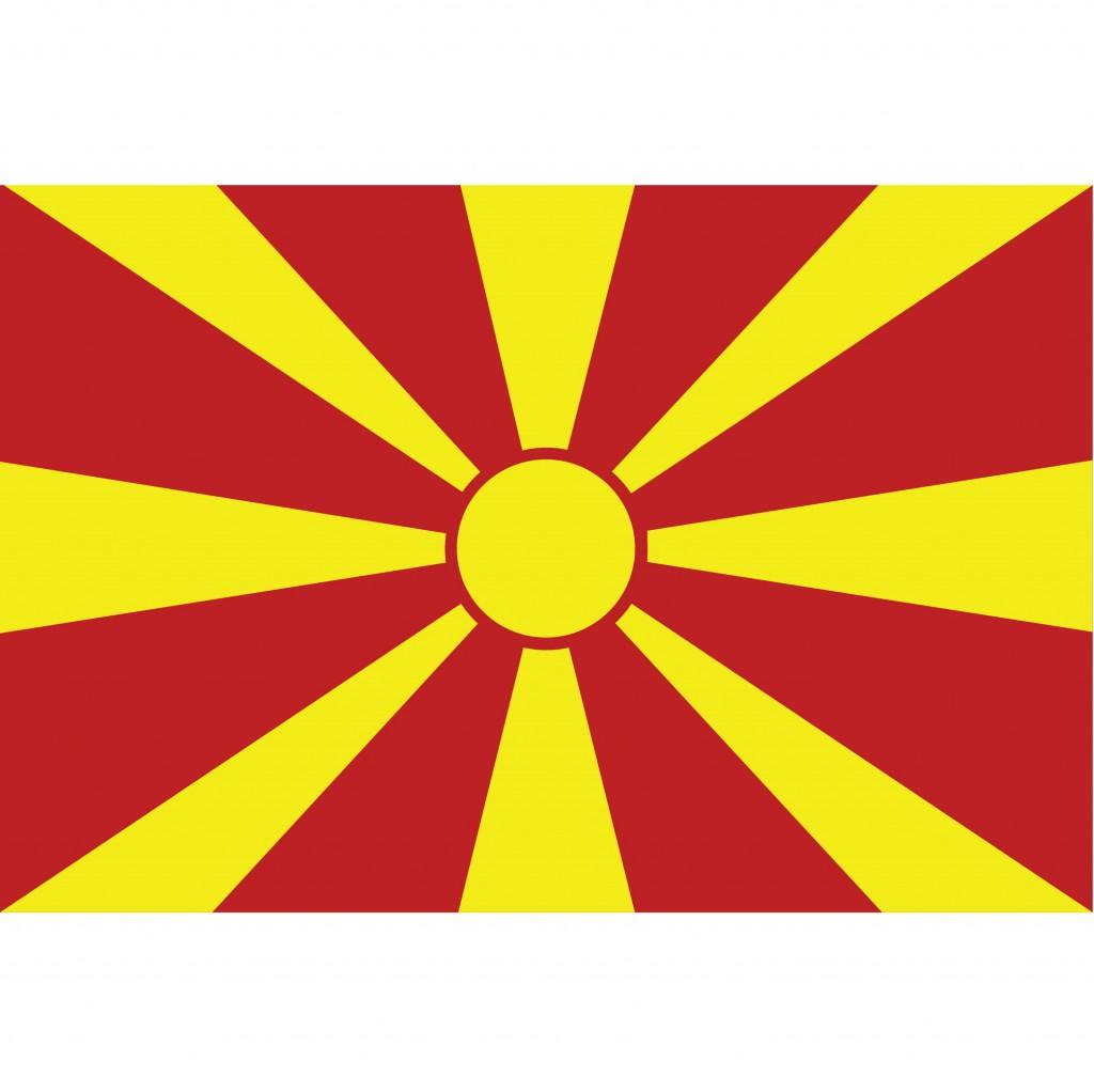 Nationalflagge Mazedonien