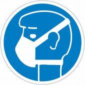 Aufkleber Gebotszeichen Maske /Mund-Nasen-Schutz tragen